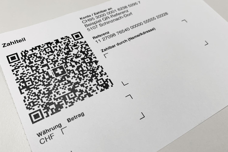 Abbildung des QR-Codes auf dem neuen QR-Rechnungspapier.