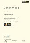 Zertifikat unserer Firma.